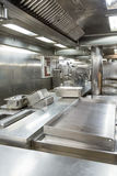 Stainless Steel Cooking Equipment in Commercial Ktichen Stock Photography
