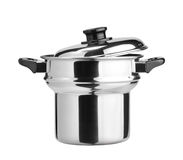 Stainless steel cooking pot Stock Photos