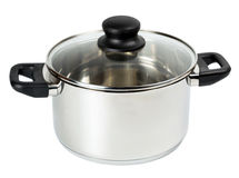 Stainless steel cooking pot Stock Photography