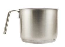 Stainless steel cooking pot isolated Stock Images