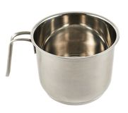 Stainless steel cooking pot isolated Stock Photography