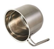 Stainless steel cooking pot isolated Stock Photos