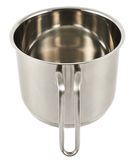 Stainless steel cooking pot isolated Stock Image