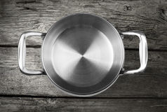 Stainless steel cooking pot royalty free stock image