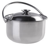 Stainless steel cooking pot with top cover Stock Image