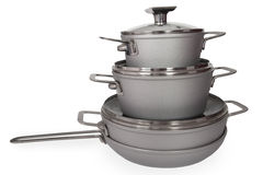 Stainless Steel Cookware Royalty Free Stock Image