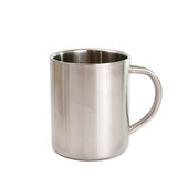 Stainless steel cup Stock Photo