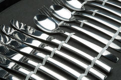 Stainless steel cutlery Stock Images