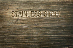 Stainless steel detail. Macro detial of steel surface Royalty Free Stock Image