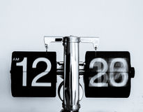 Stainless Steel Digital Clock Showing 12:20 Am Stock Photography