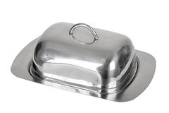 Stainless steel dish Stock Photo
