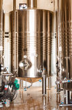 Stainless steel distillation tank Stock Image