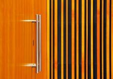 Stainless steel door handles Royalty Free Stock Images
