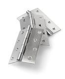 Stainless Steel Door Hinges Stock Photography