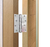 Stainless Steel Door Hinges Stock Image