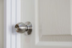 Stainless steel door knob Royalty Free Stock Images