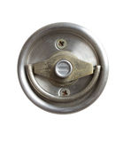 Stainless steel door knob isolated on white background Stock Photo