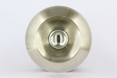 Stainless steel door knob Royalty Free Stock Photo