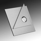 Stainless steel doorbell. Luxury shiny stainless steel doorbell Royalty Free Stock Photo
