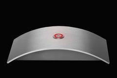 Stainless steel doorbell. Luxury shiny stainless steel doorbell Stock Image