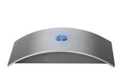 Stainless steel doorbell. Luxury shiny stainless steel doorbell Stock Photo