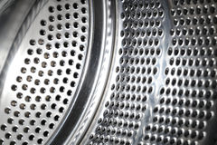 Stainless steel drum of a washing Royalty Free Stock Photography