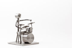 Stainless steel drummer Royalty Free Stock Image