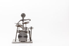 Stainless steel drummer Stock Photo