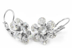 Stainless steel earrings Stock Photos