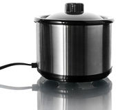 Stainless steel electric pot on white Stock Photography