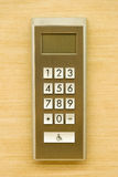 Stainless steel elevator panel push buttons Royalty Free Stock Image