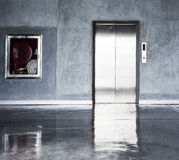 Stainless steel elevator Royalty Free Stock Photos