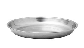 stainless steel empty plate Royalty Free Stock Photos
