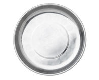 stainless steel empty plate Stock Photos