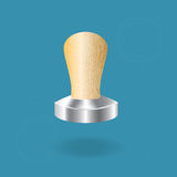 Stainless steel espresso tamper. Stock Images