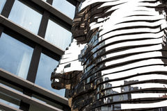 Stainless Steel Face Monument Stock Photography