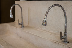 Stainless Steel faucet. Royalty Free Stock Photography