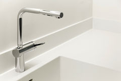Stainless steel faucet Stock Photos