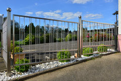 Stainless steel fence stock photos