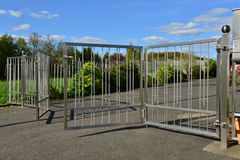 Stainless steel fence royalty free stock images