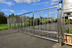 Stainless steel fence Royalty Free Stock Photography