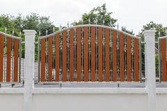Stainless steel fence Royalty Free Stock Photos