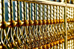 Stainless steel fence. Gold color of stainless steel fence Stock Photography