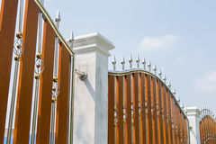 Stainless steel fence Royalty Free Stock Image