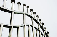 Stainless steel fence Stock Photo
