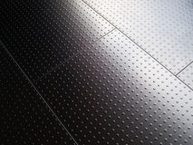 Stainless steel floor. Stainless steel interior floor panels Royalty Free Stock Photography