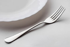 Stainless steel fork Royalty Free Stock Images