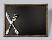 Stainless Steel fork. Silverware, cutlery Royalty Free Stock Image