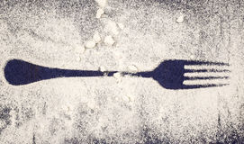 Stainless Steel fork. Silverware, cutlery Stock Photography