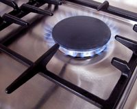 Stainless steel gas Stock Photos